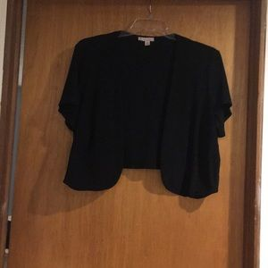 Dress Barn Black knit shrug